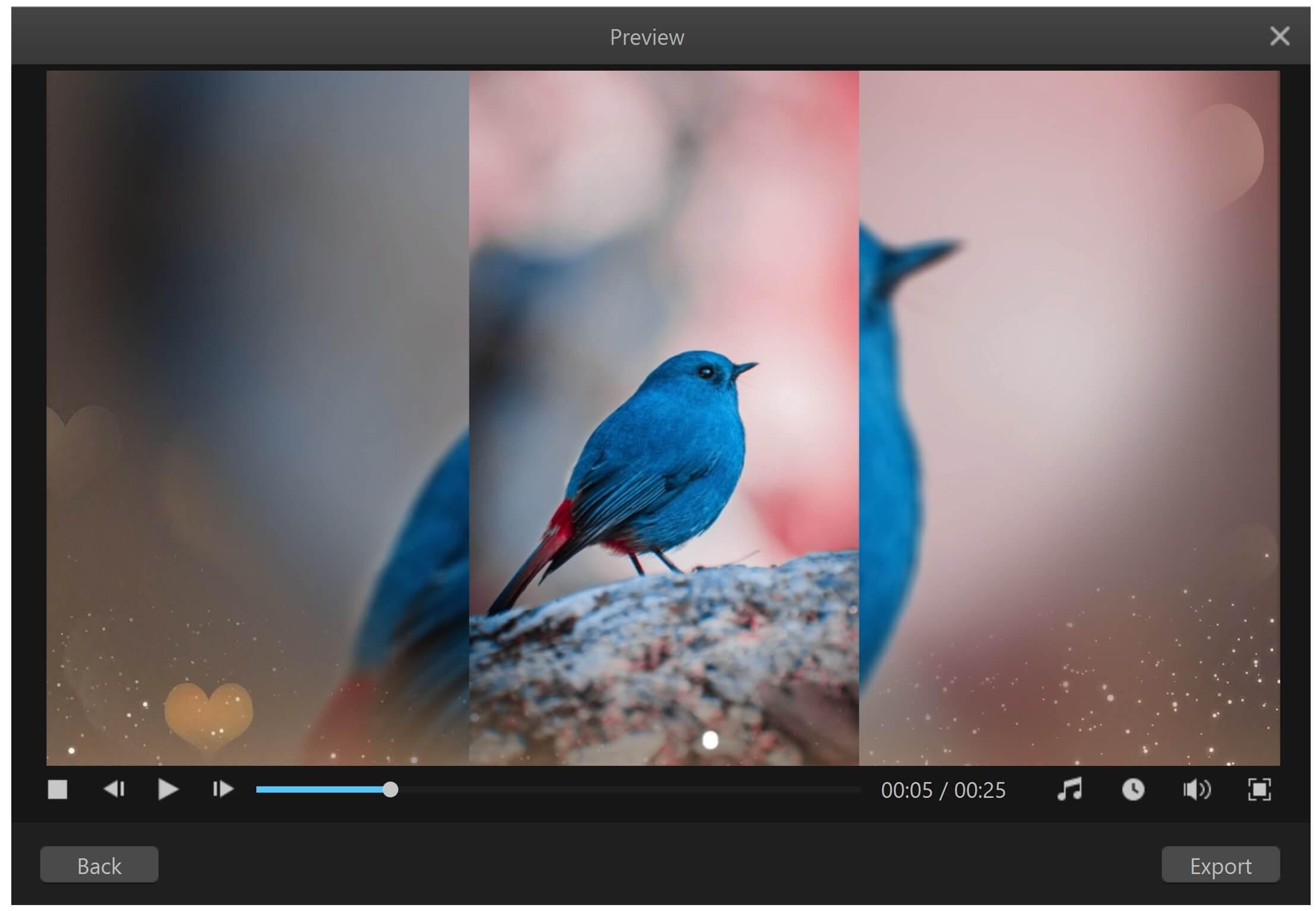 make slideshow on mac filme template preview