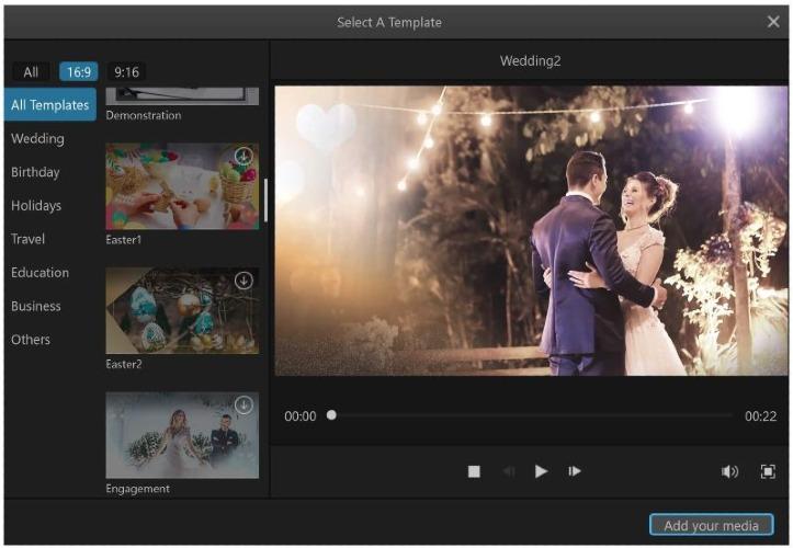 make slideshow on mac filme template