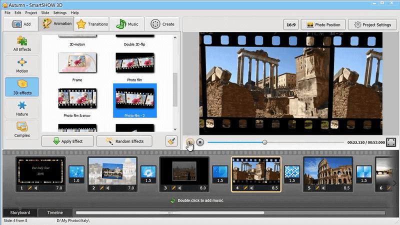 make slideshow on smartshow3d