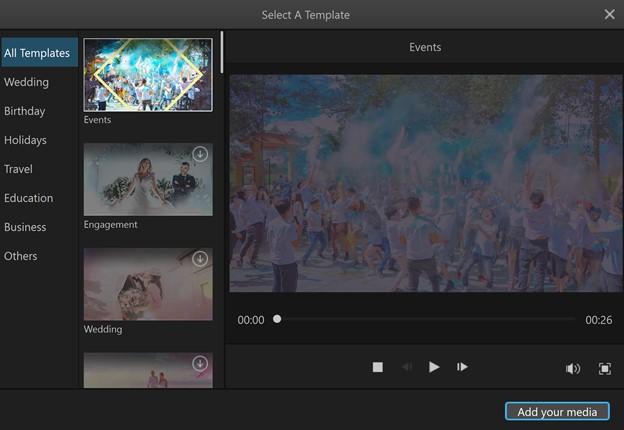 make slideshow with premiere Filme Template