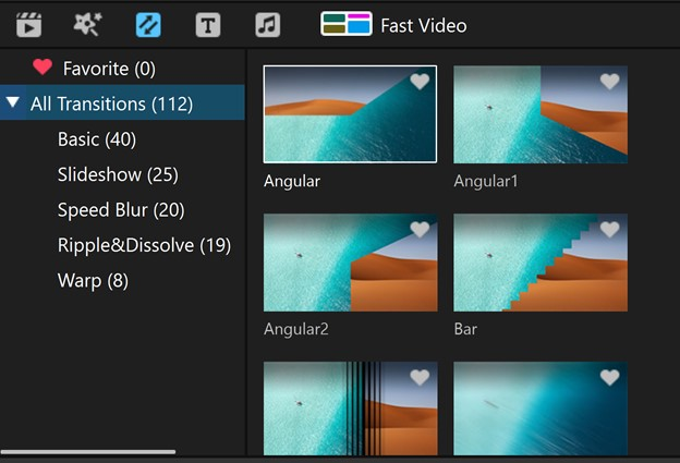 make slideshow with premiere Filme Transitions