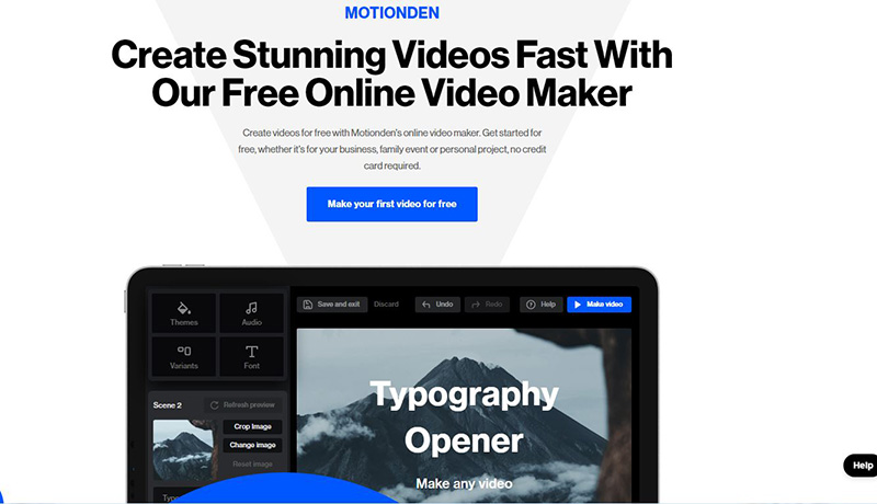 Motionden slideshow maker online