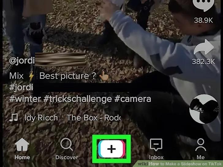 how to make tiktok slideshow in tiktok