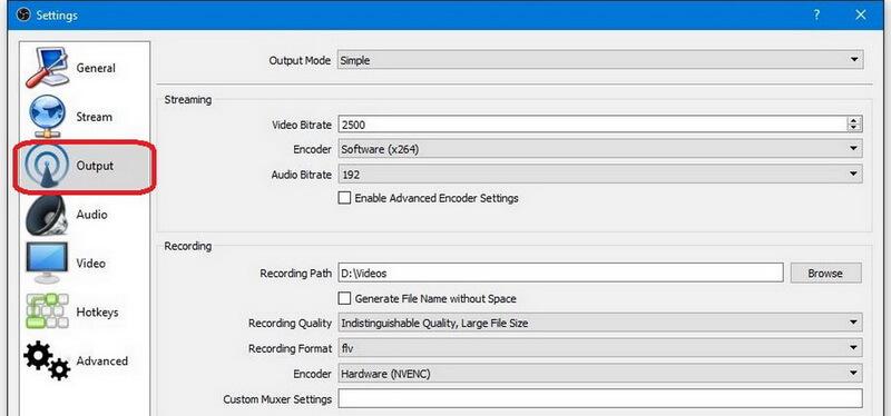 obs output mode