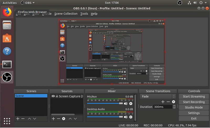 obs user interface