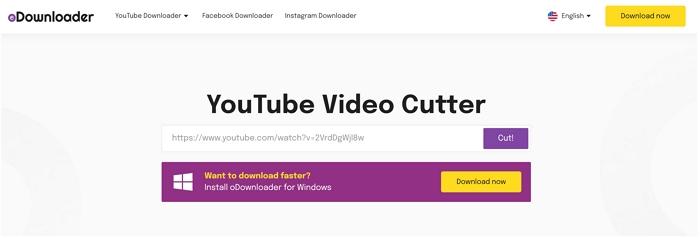 odownloader trim youtube video