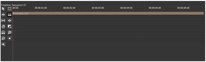 olive video editor timeline