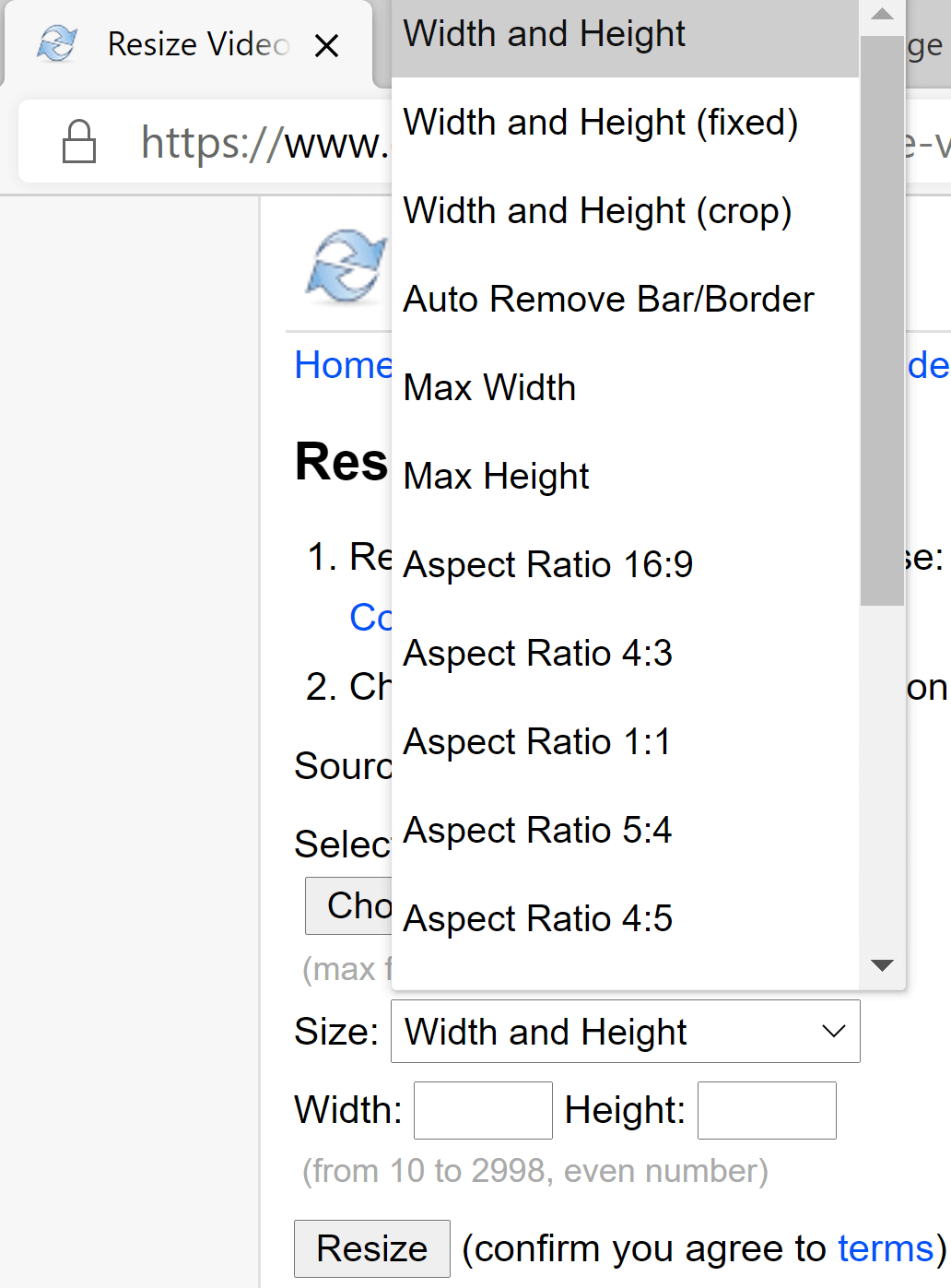online converter scale resize