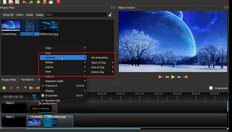 openshot make animations