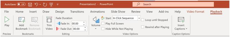 powerpoint trim video