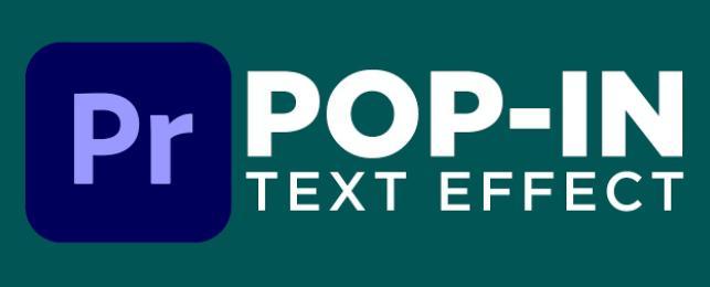 premiere text pop up effect
