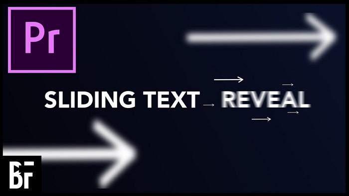 premiere text slide