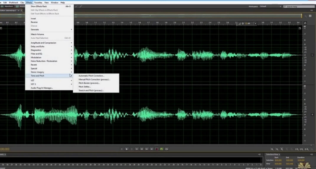 press on effect in adobe audition