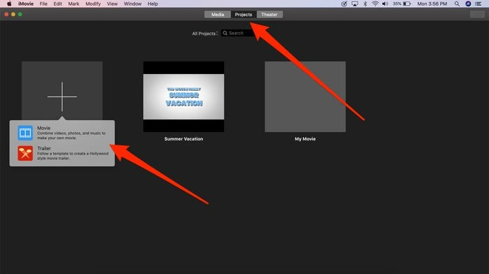 how to save imovie project in mac