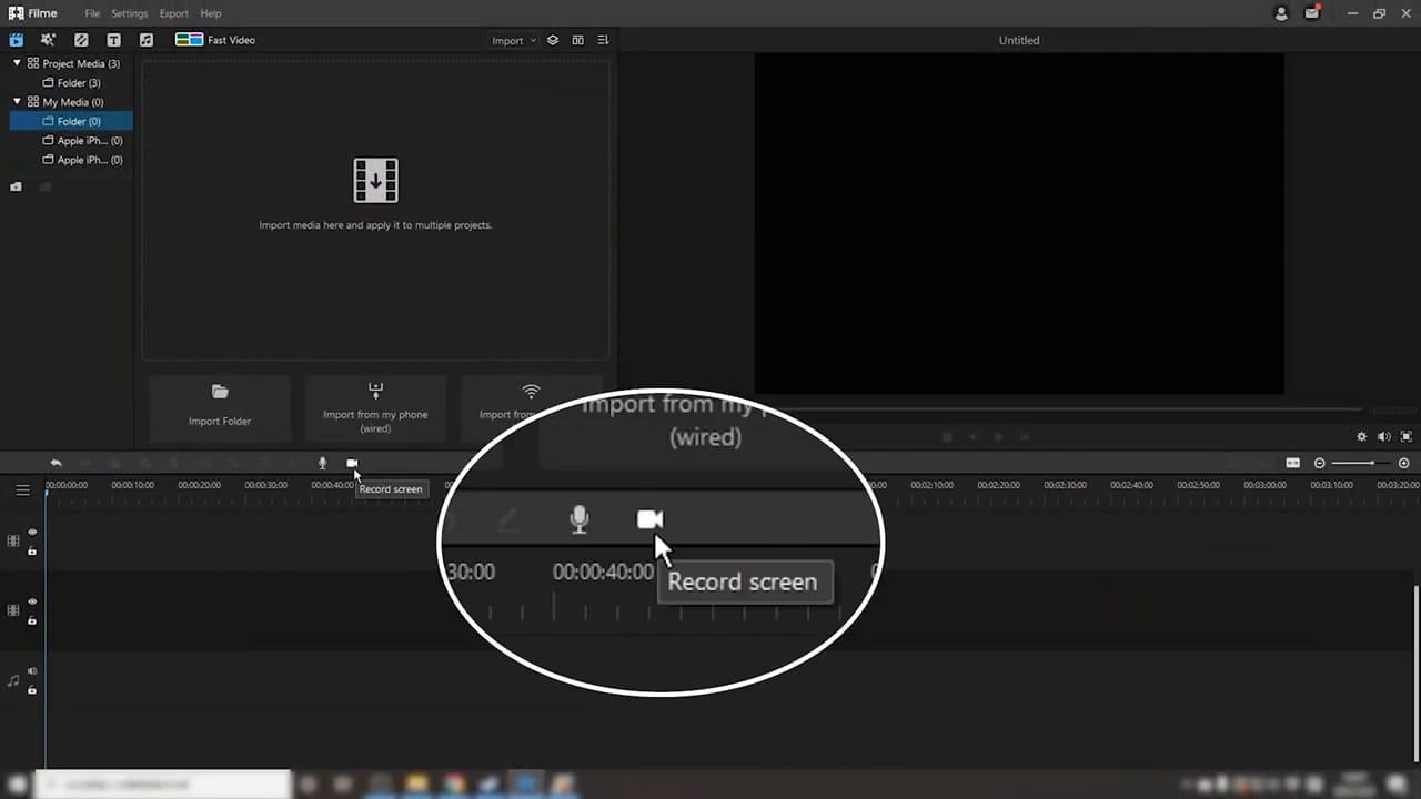 click record screen
