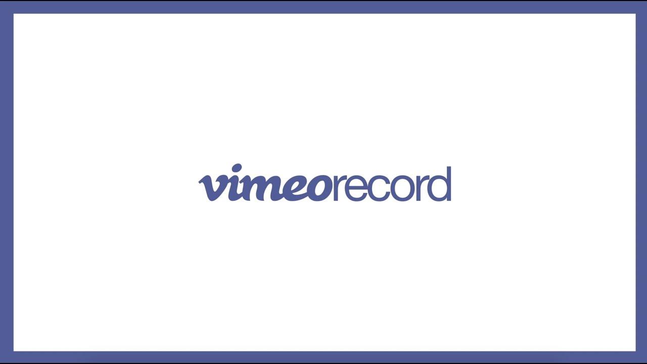 record webcam and screen vimeo record