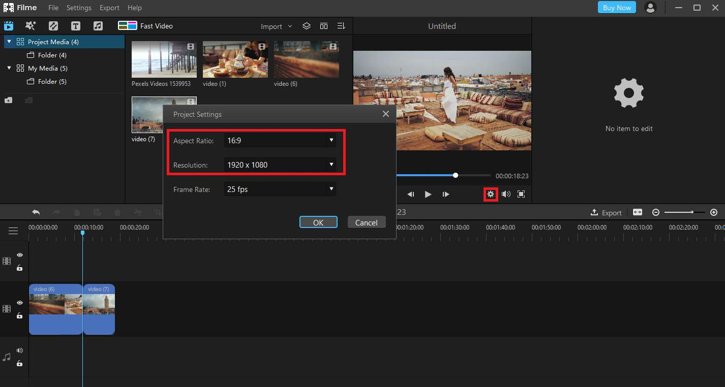 How to Resize a Video using Filme