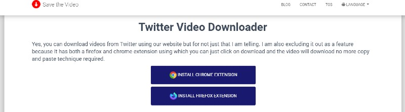save the video twitter extension