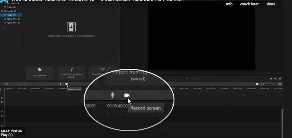 screen record for instagram filme click screen record