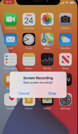 screen record for instagram ios built in recorder finish recording