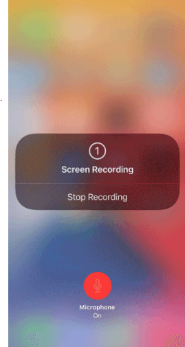 screen record for instagram ios built in recorder start