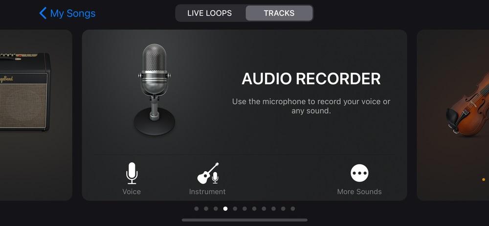 select audio recorder to make ringtone