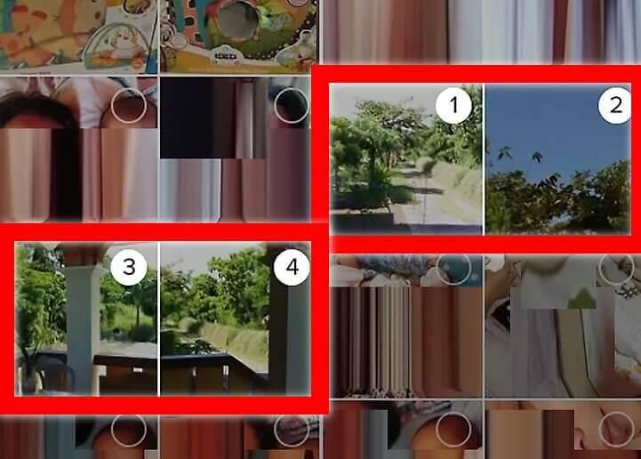 select images to make slideshow