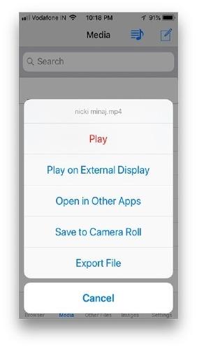 select save option