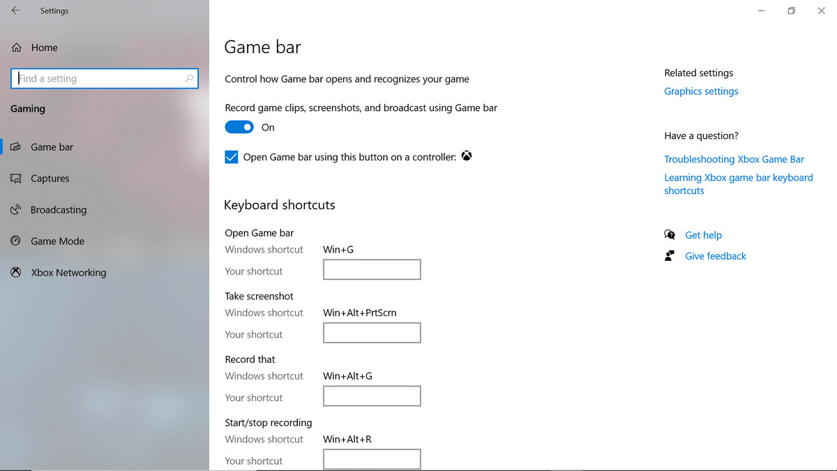 set up screen recording feature on game bar2