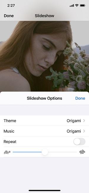 change slideshow themes