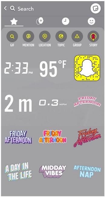 snapchat add sticker