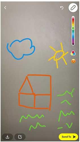 snapchat doodle drawing