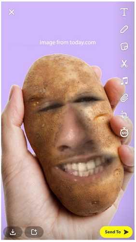 snapchat potato filter