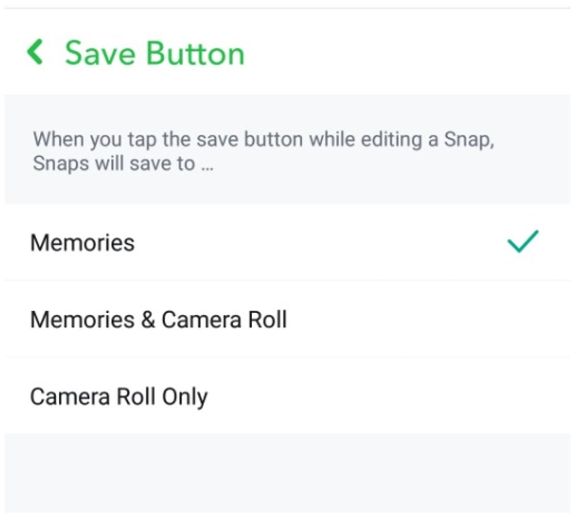 snapchat save button