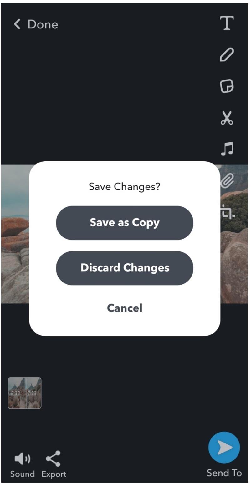 snapchat save video