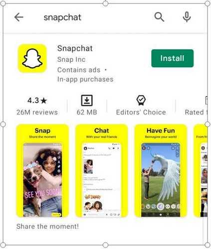 snapchat store