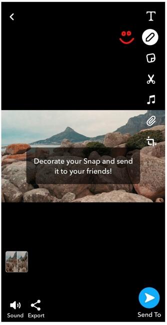 snapchat toolbar