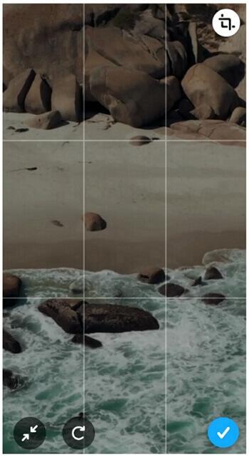 snapchat zoom in recorded video