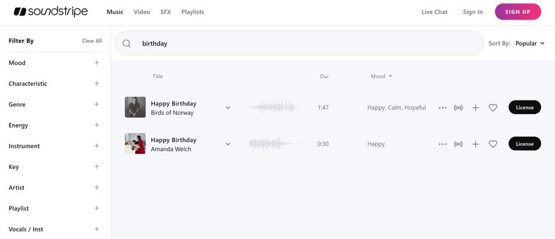 soundstripe royalty free music