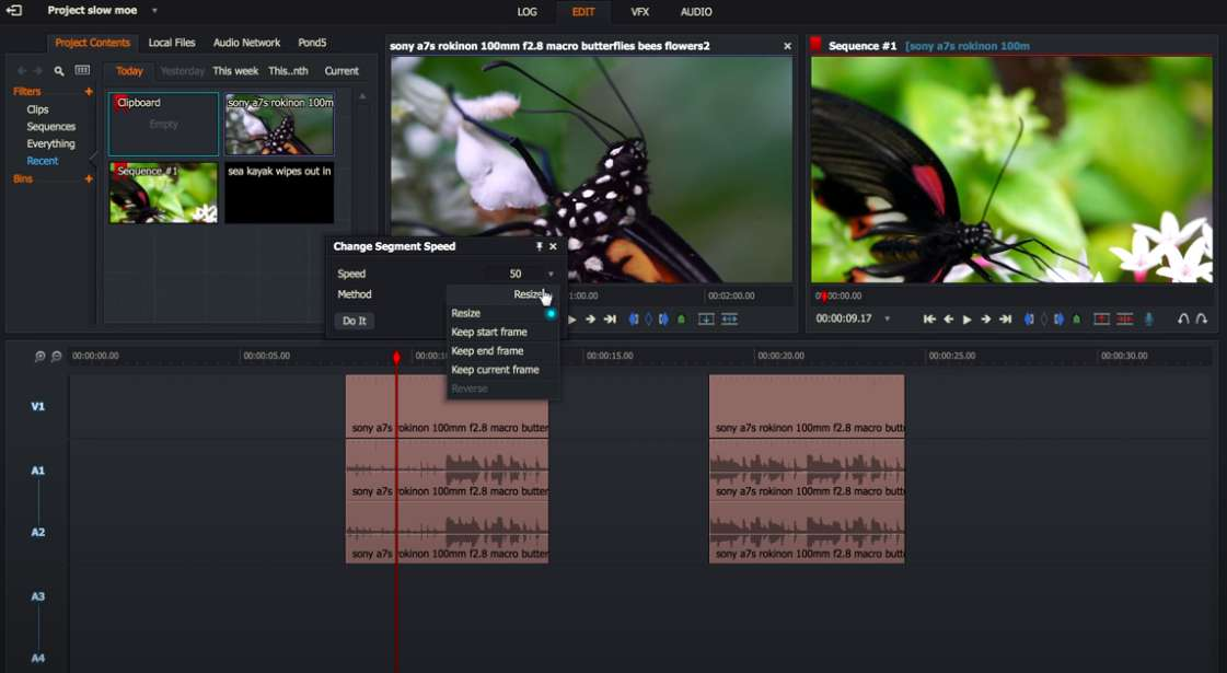 How to speed up videos with Lightworks
