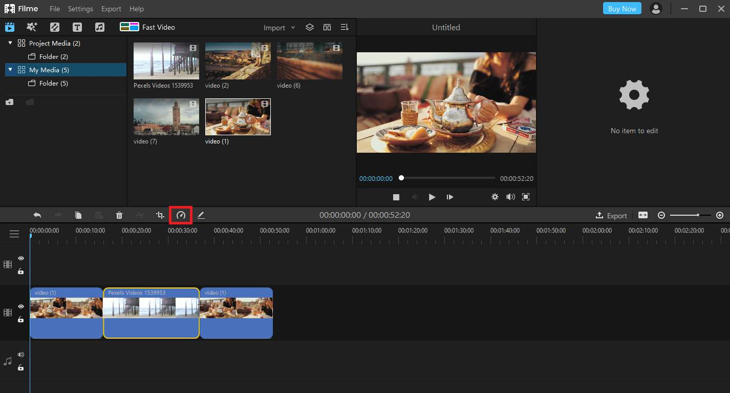 How to speed up videos on Windows with filme