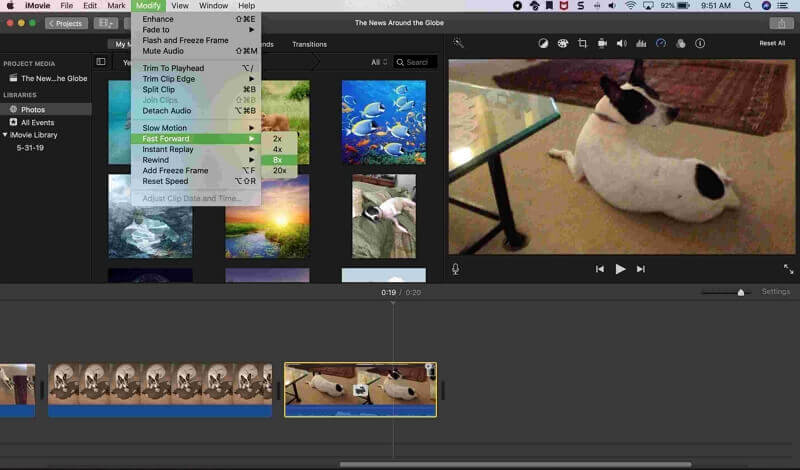 How to speed up videos on mac with imovie
