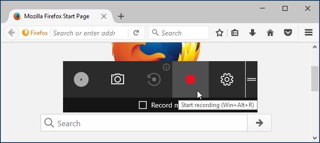 start recording using game bar