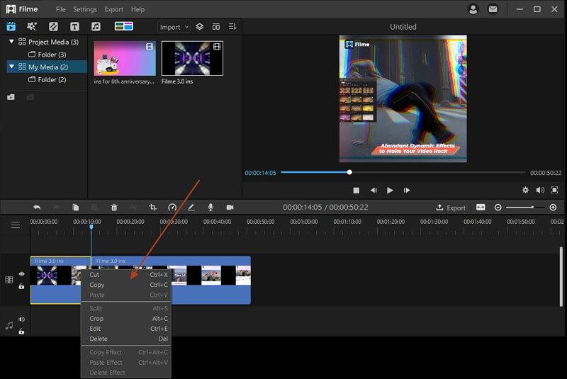 split video in Filme