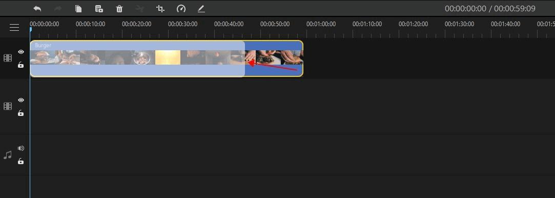 trim video in imyfone filme