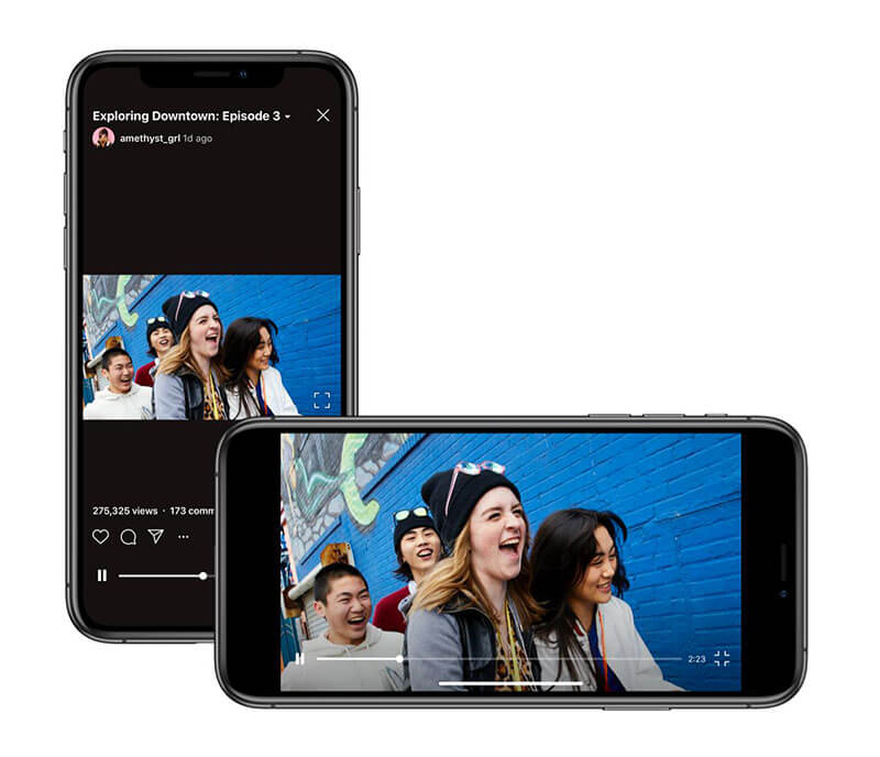 upload horizontal video to igtv