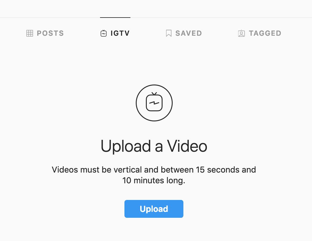 upload videos to igtv