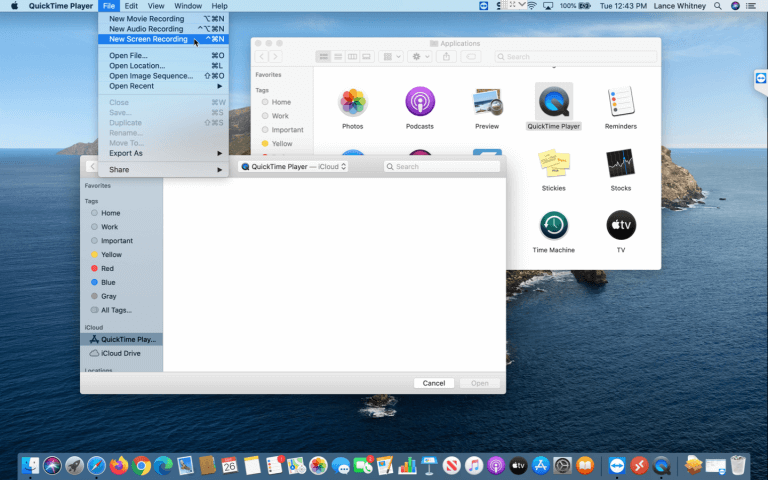 use capture tool to record screen on macbook2