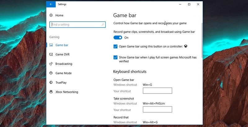 use game bar