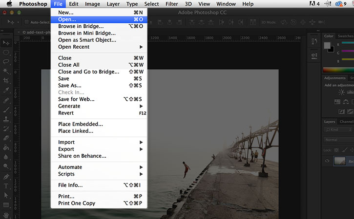 use photoshop to add text on instagram photos 1